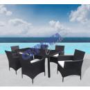 mayorista Muebles de jardin: Mesa de comedor al  aire libre Milano, de 7 piezas
