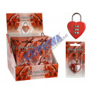 grossiste Outils a main:Heart lock, rouge, 4cm