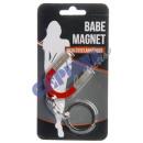 grossiste Cadeaux et papeterie: Porte-clés  Aimant Babe , environ 10cm
