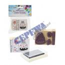 nagyker Üdvözlőkártyák: Stamp Happy Birthday , 5tlg