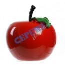 grossiste Fleurs artificielles: Sculpture  pomme   rouge à haute brillance, L, 30cm