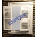 grossiste Miroirs: Miroir mural   fenêtre , blanc antique