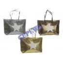 Großhandel Taschen & Reiseartikel: Shopper 'Glamour  Star', 3/s, kl., ca. 50x30cm
