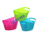 wholesale Office Furniture: Storage boxes, set  of 3, oval, about 16x8x10cm