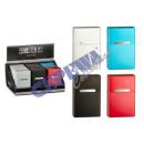 groothandel Rook-accessoires: Sigaret box, aluminium, 4 / s