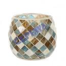 Großhandel Windlichter & Laternen: Windlicht, Mosaik, Raute, ca. 10cm