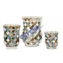 grossiste Lanternes et lanternes: Vent léger,  mosaïque, diamant, bulbeux, L, 20cm