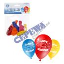 nagyker Üdvözlőkártyák: Lufi, kerek, 22cm D, Happy Birthday , 5