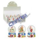 wholesale Snow Globes: Snow globe, mini, ;'Christmas' , 4 / s, appr