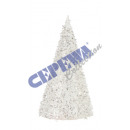 grossiste Boules de neige: « Glitter cône »  arbre, petit, environ 13cmH