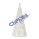 grossiste Boules de neige: « Glitter cône »  arbre, grand, environ 18cmH