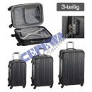 wholesale Suitcases & Trolleys: Trolley case set 'Style', 3pcs, black