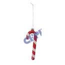 Tree ornaments, candy canes, set of 6, ca. 12cmH