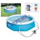 mayorista Conjuntos de jardin: Conjunto de piscina Fast Set ™ 244x66 cm, con bomb