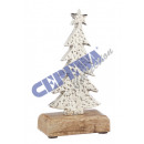 Tree on foot, aluminum, S, about 20cmH