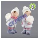 Śnieżne dzieci z kulką LED, 2 / s, około 25 cmH