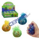 Großhandel Bälle & Schläger: Quetschball im Netz, Deluxe, ca. 5,5cmD