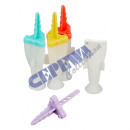 wholesale Other: Ice lolly shape, rocket, for 4 pieces