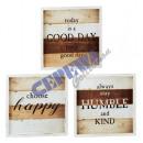 mayorista Alimentos y bebidas: Imagen 'feliz', 3 / s, 40x40cm