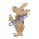 Moose, wood, glitter, small, about 14cmH