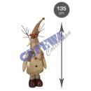 Reindeer, brown, telescopic legs, max approx 135cm