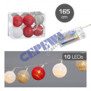 wholesale Other: LED light Cottonball, color mix, 10LED, ca. 165c