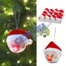 Ozdoba choinkowa LED, Święty Mikołaj, mała, ok. 6,