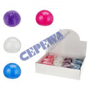 Squeeze ball, with knobs, 4 / s, approx. 8cmD