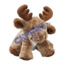 Pluszowa zabawka Łoś milutki siedzący, brązowy