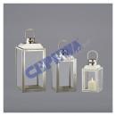 wholesale Wind Lights & Lanterns: Lantern set, stainless steel, 3-piece.