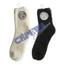 Großhandel Strümpfe & Socken: Kuschelsocken,  36-41 schwarz/weiß sort.
