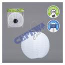 wholesale Illuminants: LED Solar Lampion OUTDOOR, white, green, 30cm