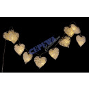 Großhandel Lichterketten: LED Lichterkette   White Hearts , 10 LED, 120cm