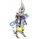 Weinflaschenhalter 'Skifahrer', 27cm