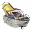 Weinflaschenhalter 'Motorboot', 13cm