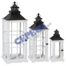 groothandel Glazen: Lantern   Southampton , wit, set van 3
