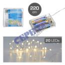 groothandel Koffers & trolleys: LED LK koperdraad 'Timer', 20LED, 220cm