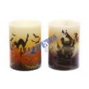 LED Echtwachs Candle 'Halloween', 2 / s, k