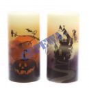 LED Echtwachs Candle 'Halloween', 2 / s, g
