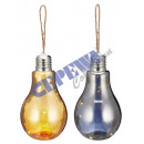 LED bulb m. Hemp cord, 2 / s, gr, 10 LED, 22 cm h