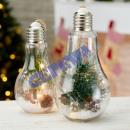 LED bulb fir m. Hemp cord, gr, 10 LED, 22 cm