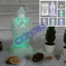 wholesale Business Equipment: LED Glam House, color change, 6LED, 25 cm h