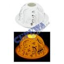 Windlicht, Dome Silber Weihnachts-Dekor, 12cm d