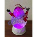 LED Glam Santa, 20cm h
