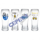 wholesale Drinking Glasses: Wheat beer glass sayings colored, 4 / s, 500ml, 8,