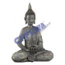 Tajski Buddha z kryształkami i miską, 32cm