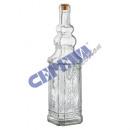 Szklana karafka z korkami, 750 ml, 30cm