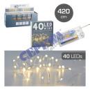 40 LED Fairy Lights Micro, 420cm
