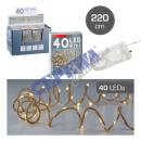 40 LED Fairy Lights Micro 'JUTE' BUTTON CE
