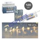 10 LED Fairy Lights Micro, Star, 120cm